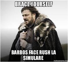 Brace Face Meme - brace yourself barbos face rush la simulare brace yourself game