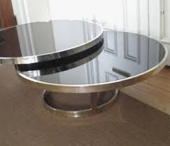 Chrome And Glass Coffee Table Coffee Table The Best Examples Modern Black Glass Coffee Table