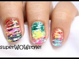 awesome spun sugar no tools easy nail art without tools