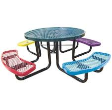 Kids Outdoor Furniture Ikea Furniture Appealing Small Kids Wooden Round Picnic Table Design