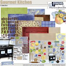 digital scrapbooking kit value pack gourmet kitchen by marlene