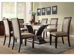 Dining Table And Six Chairs Dining Room Design Glass Dining Room Tables Table For Set