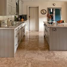 kitchen flooring ideas uk neutral kitchen with travertine floor tiles kitchen flooring