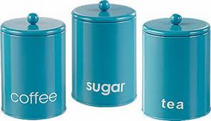 kitchen canisters blue 3 set kitchen canister storage set tea coffee sugar jars buy