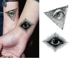 stickers eye waterproof simple black triangle small