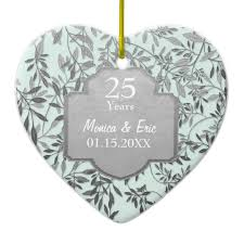 25th wedding anniversary christmas ornament 25th silver wedding anniversary memento gifts t shirts
