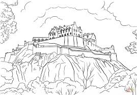 edinburgh castle coloring free printable coloring pages