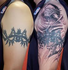 before and after tribal armband cover ups tattooic