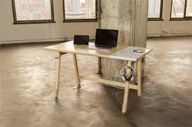 keep cables on desk modernist desk hides away cords to keep top clutter free