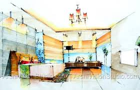 How To Draw A Interior Design Plan New 40 Interior Design Drawings Perspective Design Decoration Of