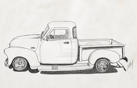 chevrolet clipart antique truck pencil and in color chevrolet