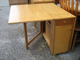 drop leaf table with folding chairs stored inside uhuru furniture collectibles drop leaf table with stored 4