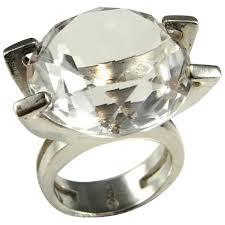 rock silver rings images Natural rock crystal ring big 925 sterling silver rings unisex jpg