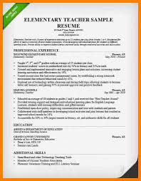 Sample Resume Of A Teacher by Classy Design Teacher Sample Resume 16 Teacher Resume Sample Neat