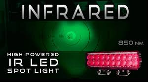 Infrared Led Light Bulb by Infrared Led Spot Light High Powered Ir Youtube