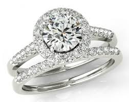 bridal sets for 1 50 carat forever one moissanite diamond wedding set