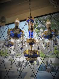 blue crystal chandelier light striking french blue crystal chandelier 4 750 00 yvonne sanders