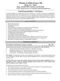 C Level Executive Resume Cfo Resumes Resume Writing Current Trends 100 Sample Resume