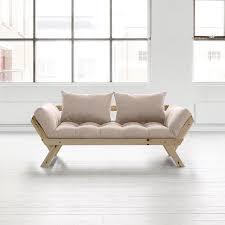 canapé convertible futon canapé convertible en bois bebop karup avec matelas futon prix