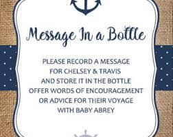nautical baby shower printable sign custom message in a