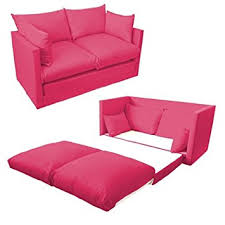 sofa bed pink ready steady bed comfortable children s kids drill 2 seater sofa