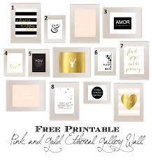 Pink And Gold Bedroom by Pink And Gold Ethereal Teen Bedroom Gallery Wall Free Printable