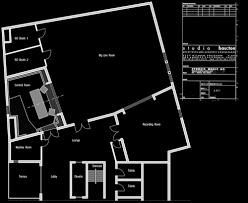 recording studio floor plan layout