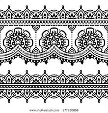 mehndi indian henna tattoo seamless pattern design elements by