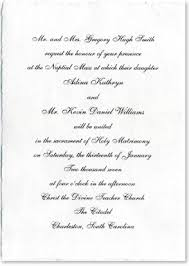 wedding programs wording sles wedding invitations