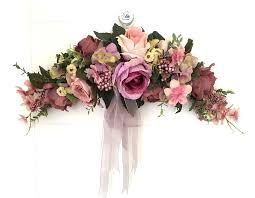 wedding flowers background purple artificial flowers door lintel flower mirror flower