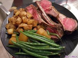 home cooking easy roasted rack of lamb recipe with side dishes