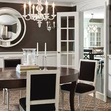 Love This Dramatic Dining Room Brown Paint Wallpaper White - Dining rooms with wainscoting
