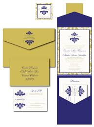 stunning blue and gold wedding invitations that maybe you are
