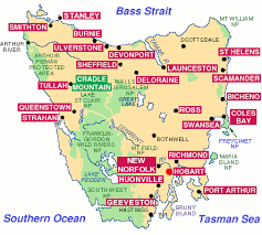 map of tasmania australia travel tasmania accommodation guide hotels motels cottages