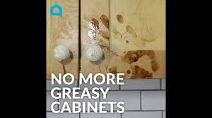best way to get sticky grease kitchen cabinets how to clean greasy kitchen cabinets in a minute