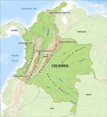 Columbia South America Map Colombia Physical Map