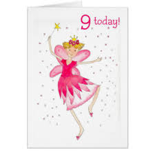 pink 9th birthday greeting cards zazzle