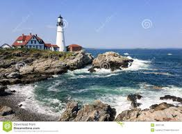lighthouse in portland maine royalty free stock image image
