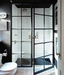 Black Shower Door Shower Screen Door Black Metal And Glass Bathrooms Pinterest