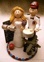 personalized military wedding cake topper