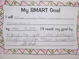Goal Worksheets For Adults Setting Almost Smart Goals With My Students Scholastic