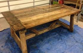 Build A Wooden Table Top by How To Build A Rustic And Bold Farm Table