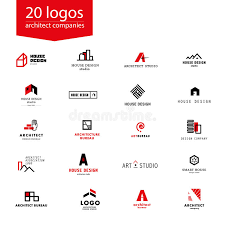 bureau company vector flat architecture company logo collection stock vector
