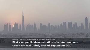 dubai lexus private taxi volocopter u0027s electric air taxi completes first autonomous demo