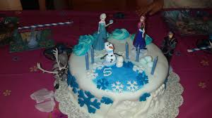 frozen theme cake and party motherhood full of dreams