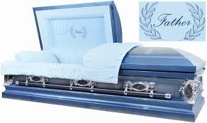 blue casket 18 steel casket steel