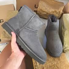 ugg boots sale grey 48 ugg shoes ugg authentic mini grey boots sz