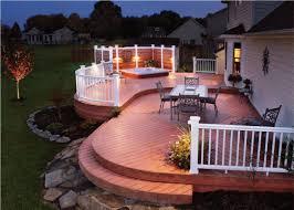 backyard wood deck designs home outdoor decoration
