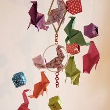 origami chambre bébé mobile bébé origami bois suspension en spirale lustre chambre enfant