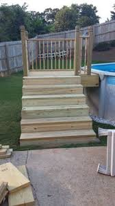 how to construct above ground pool stairs http www